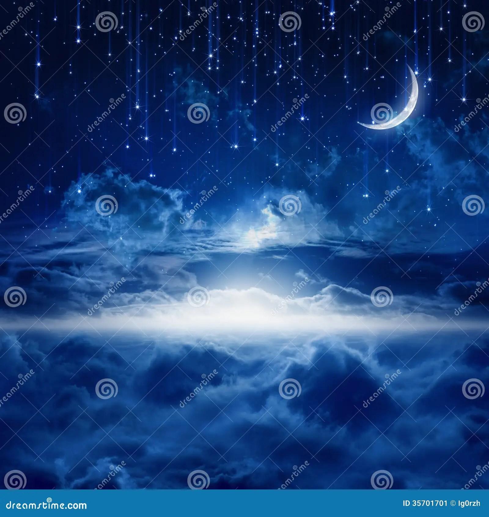 Good Evening 3d Wallpaper Beautiful Night Sky Stock Image Image 35701701