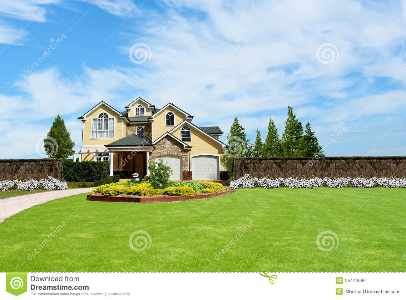 Beautiful Two Story House Beautiful Two Story Country House Stock Image Image