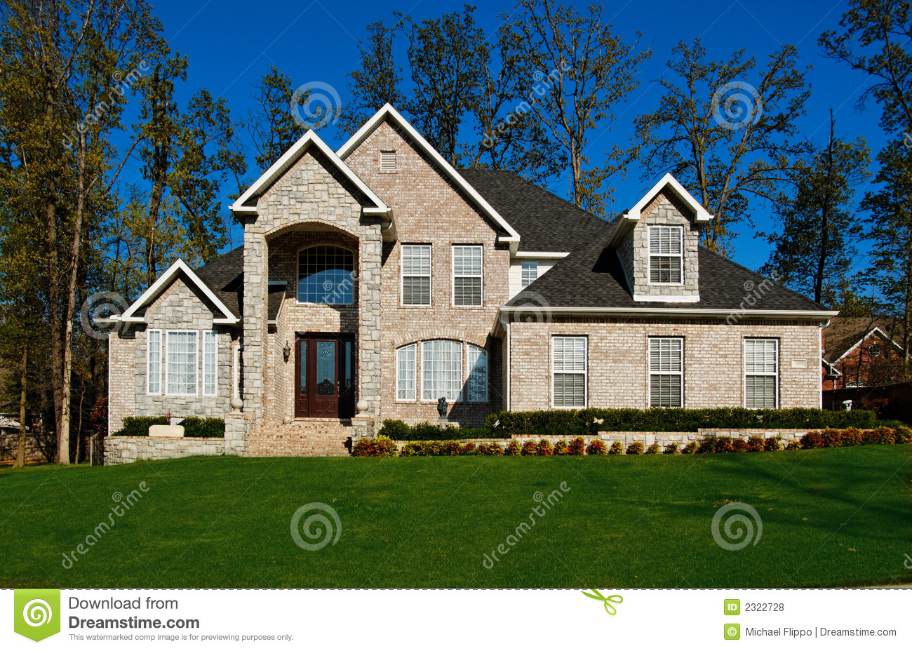 Beautiful Two Story House Beautiful Two Story Home Royalty Free Stock Photos Image