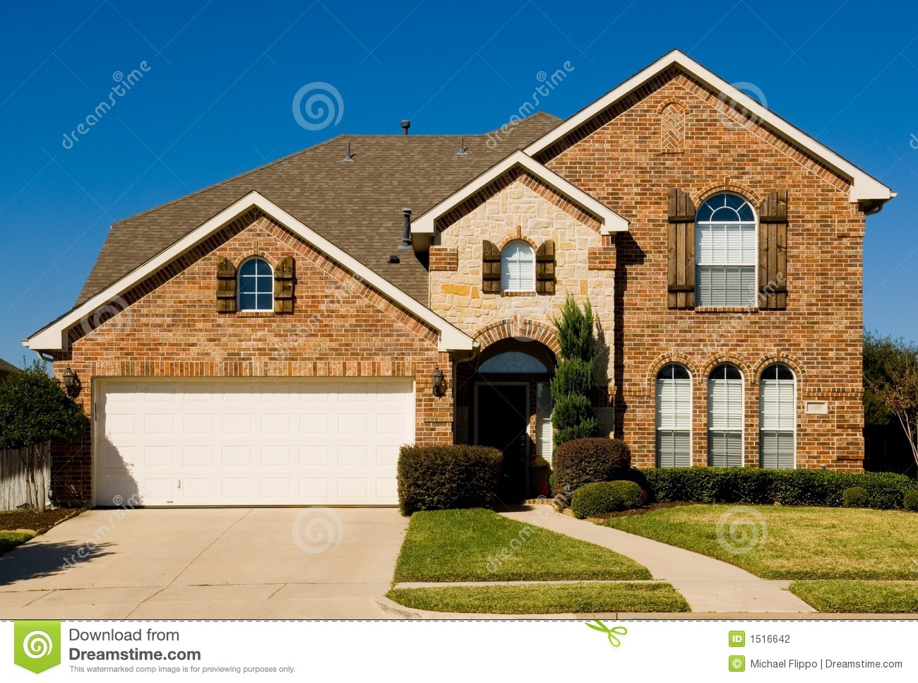 Beautiful Two Story House Beautiful Two Story Home Property Stock Photography