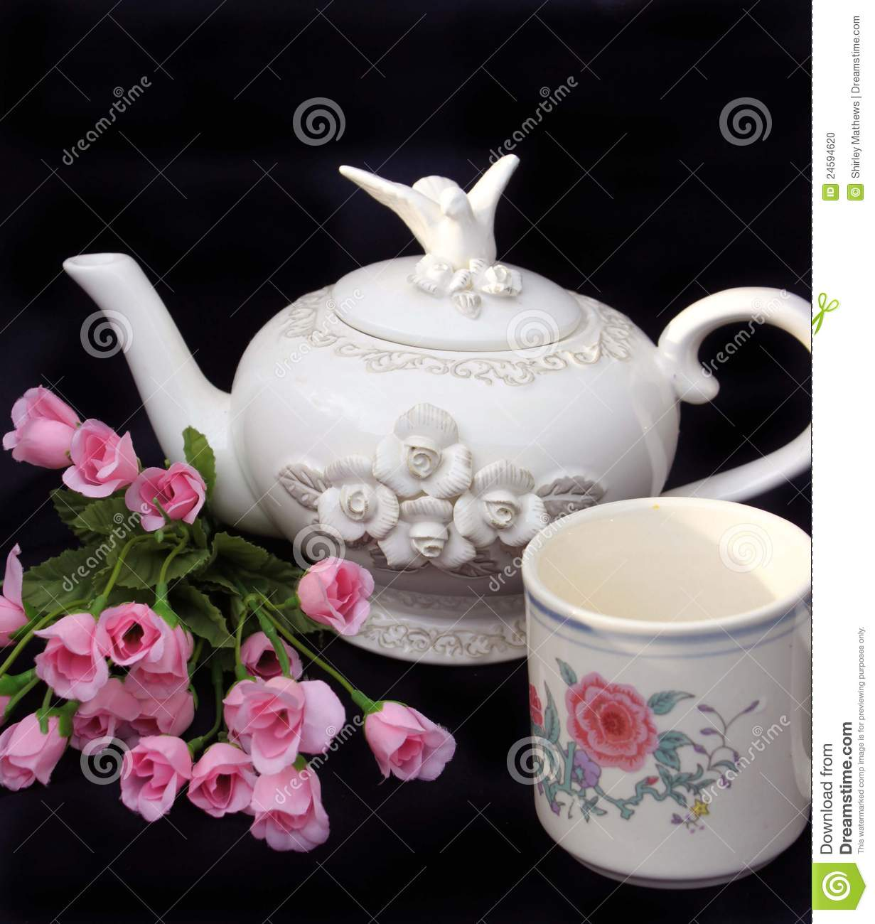 Beautiful Teapot Beautiful White Teapot Stock Photo Image 24594620