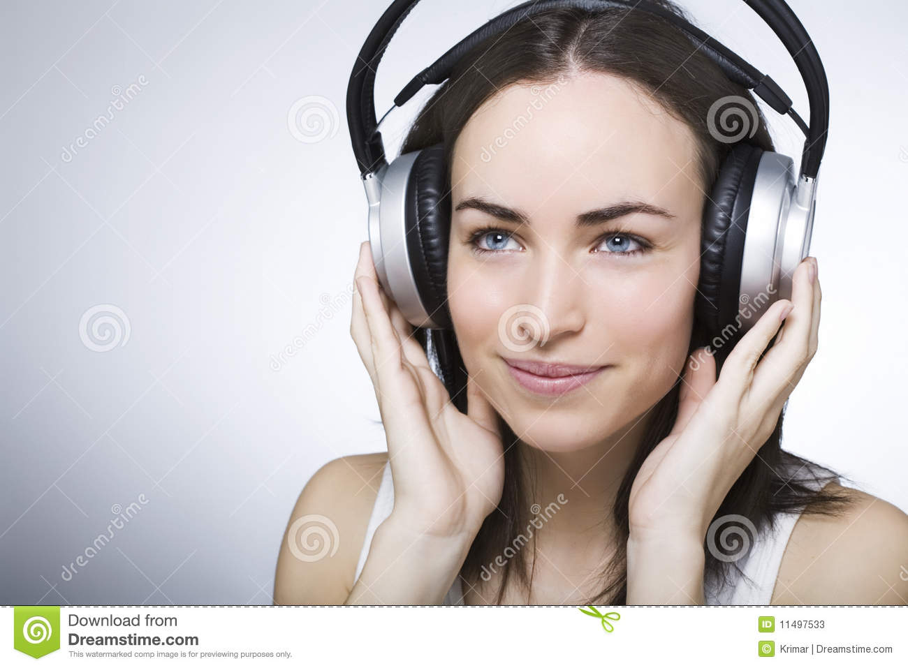 Beautiful Headphones Beautiful Young Woman With Headphones Stock Photos Image
