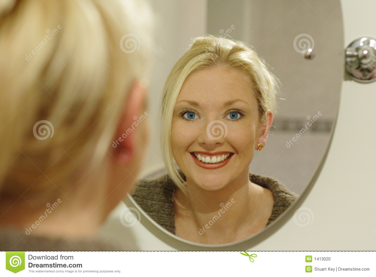 Beauty Mirror Beauty In The Mirror Stock Photo Image Of Eyes