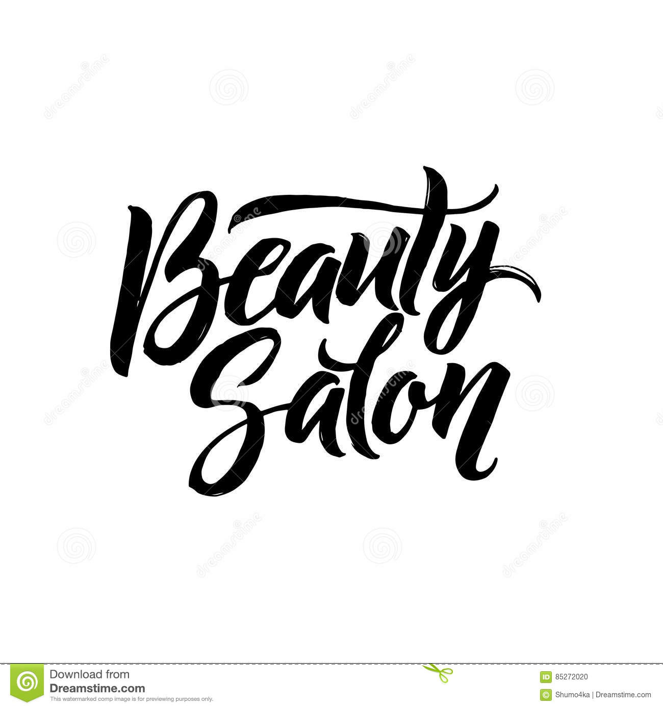 Salon Scrapbooking Beauty Salon Typography Square Poster Vector Lettering
