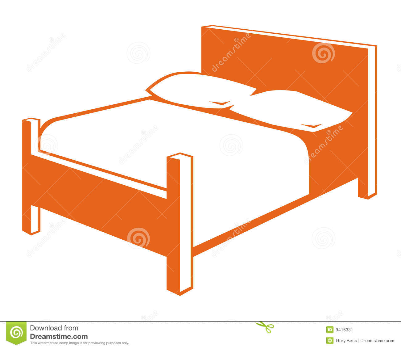 Dessin Lit Double Bed Symbol Stock Image Image 9416331