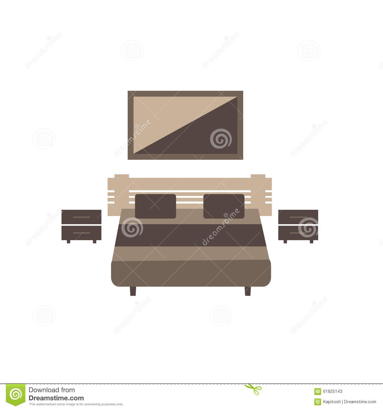 Bedroom White Background Bedroom Furniture Set On White Background Stock Vector
