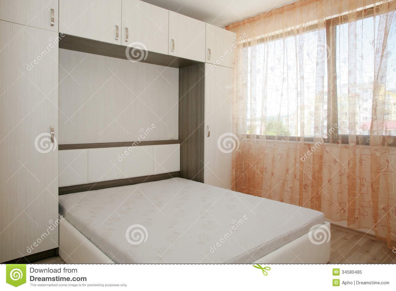 Wardrobes For Small Rooms Bedroom Stock Image Image Of Space Sleep Window Design