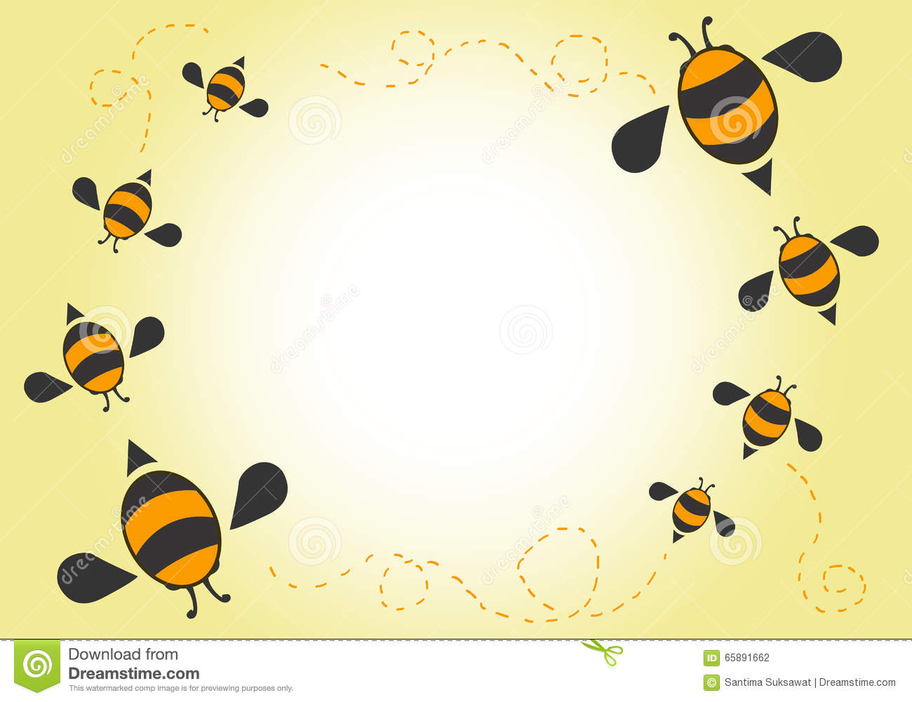 Cute Bees Wallpaper Bees Cartoon Background Stock Vector Image Of Ladybug