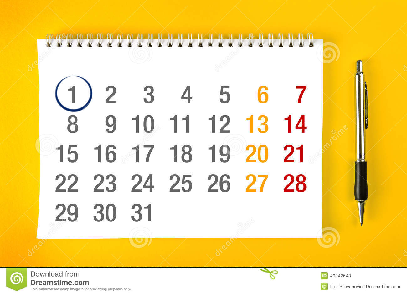 free 3 month calendar 2015
