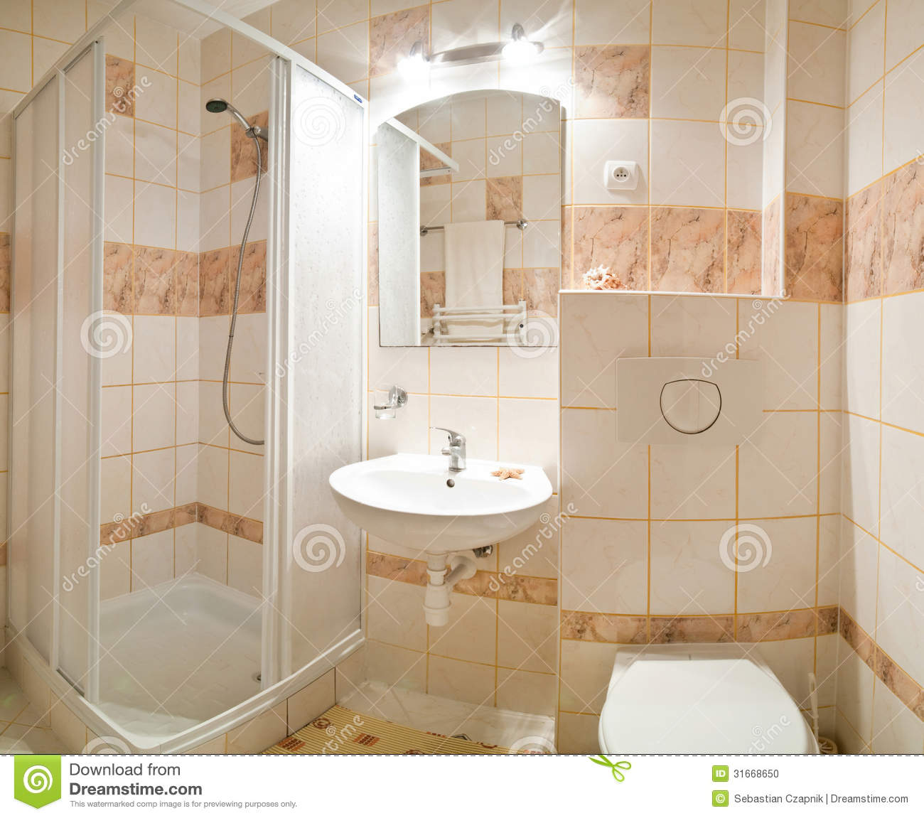 Beige Bathroom Stock Photo Image Of Tiled Tiles Home 31668650