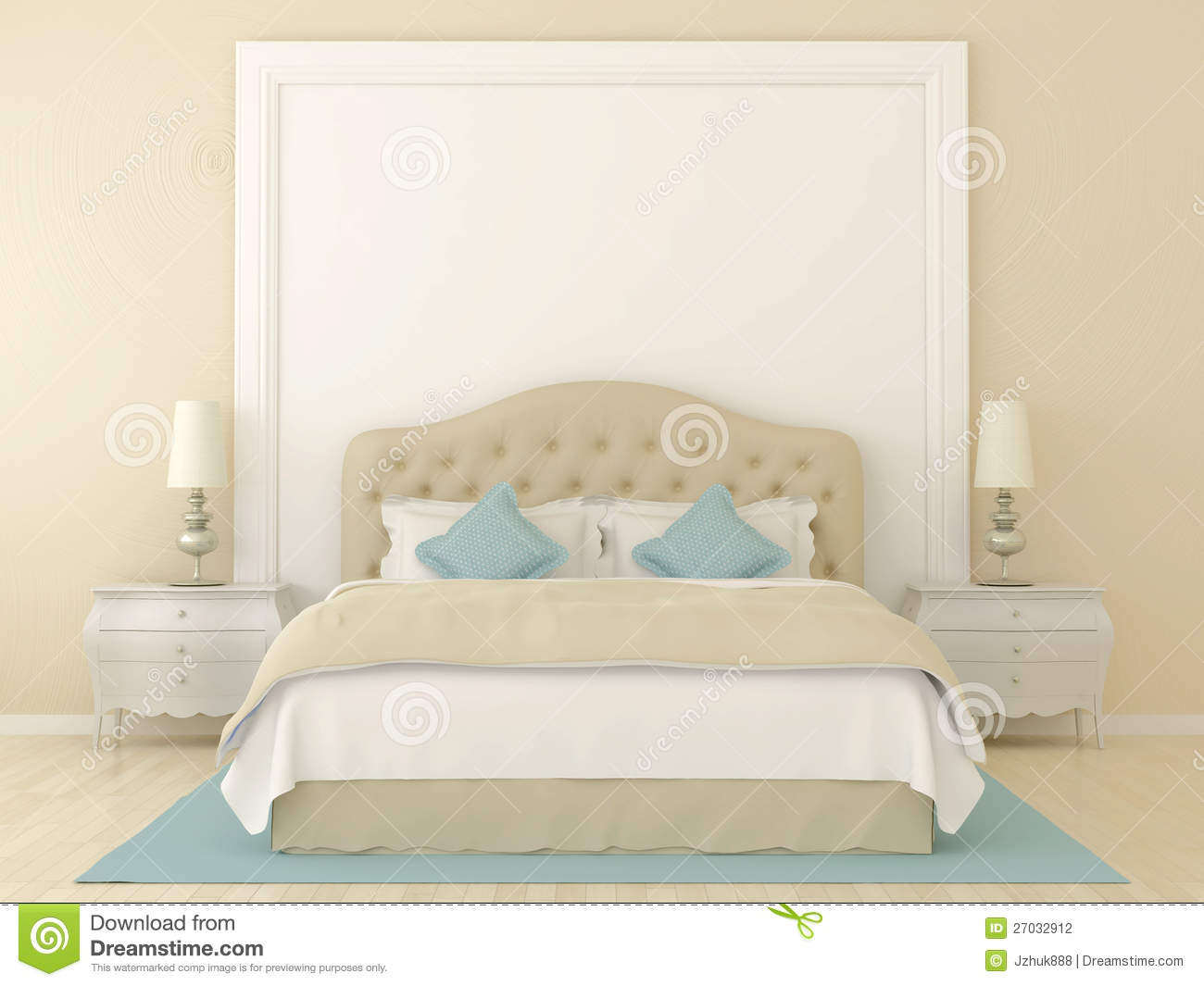 Bedroom White Background Beige Bedroom Stock Photography Image 27032912