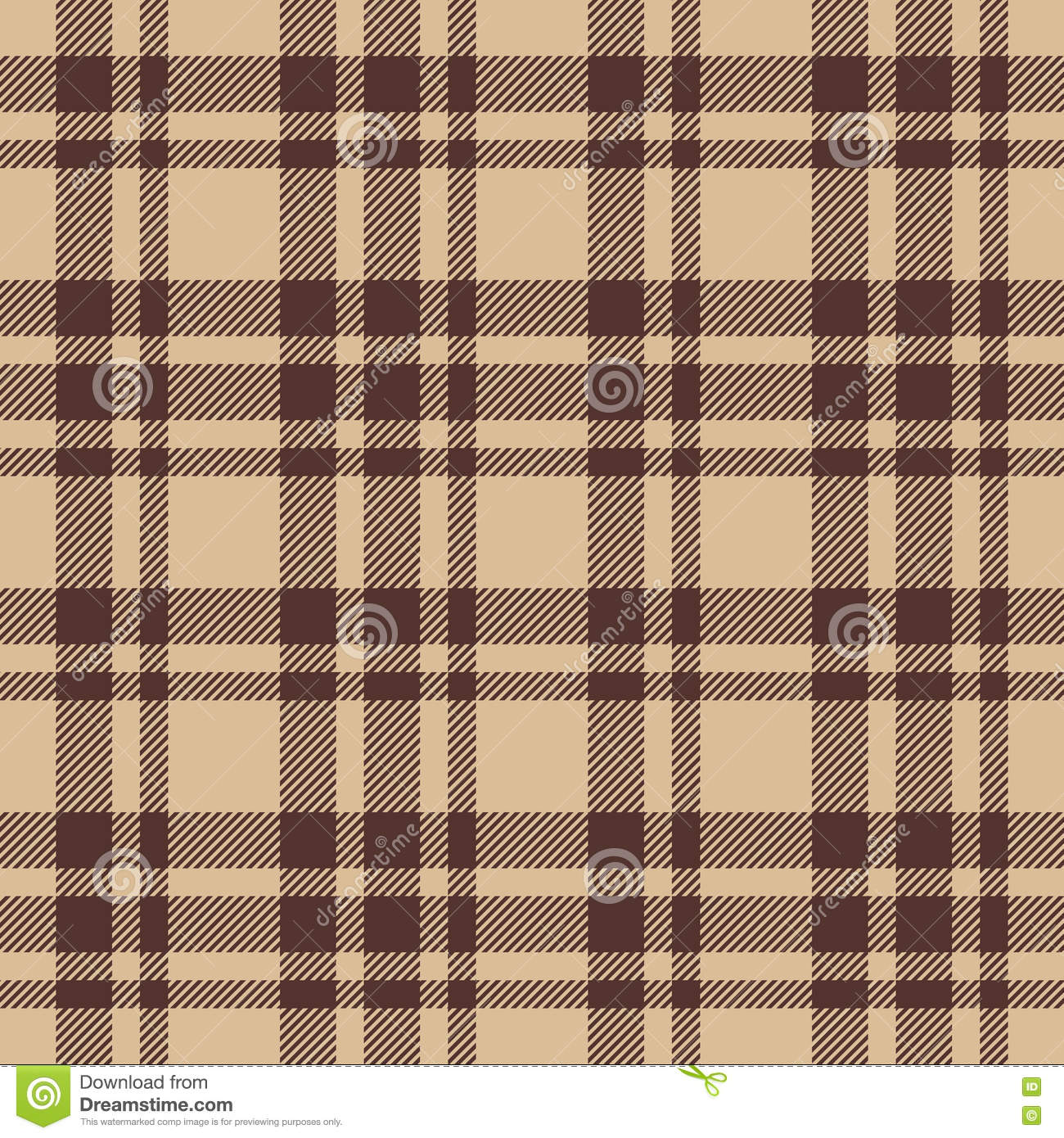 Brown Seamless Fabric Textures Beige Brown Check Plaid Seamless Fabric Texture Stock