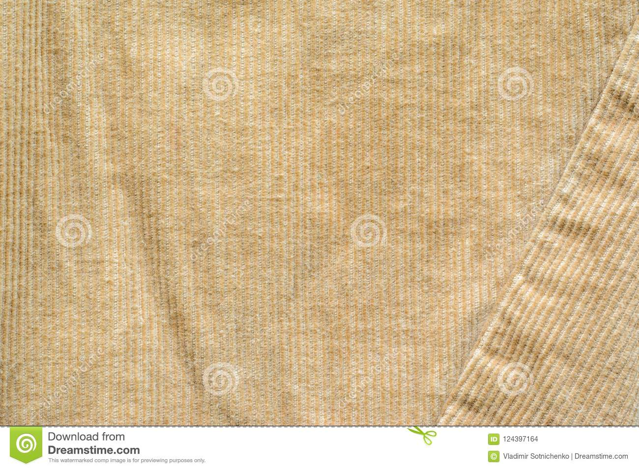 Beige Velvet Cloth Texture With Stitches Stock Photo Image Of Canvas Crumpled 124397164
