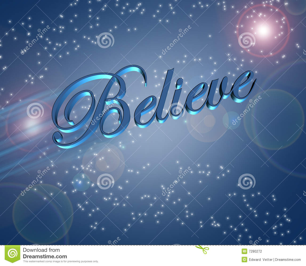 Dream Wallpaper Quotes Believe In Miracles Illustration Stock Illustration