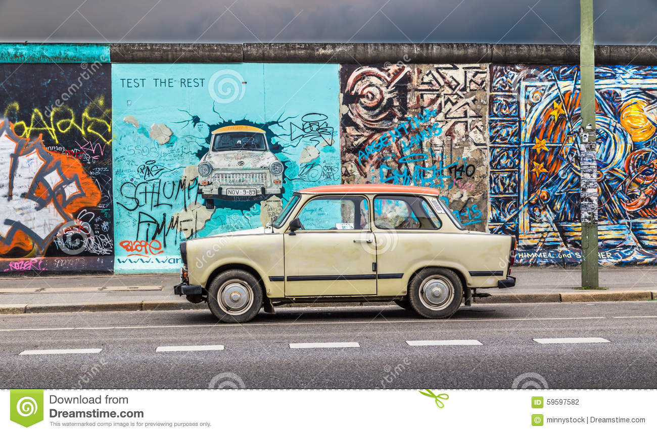 Trabant Clipart Berlin Wall At East Side Gallery With An Old Trabant Germany