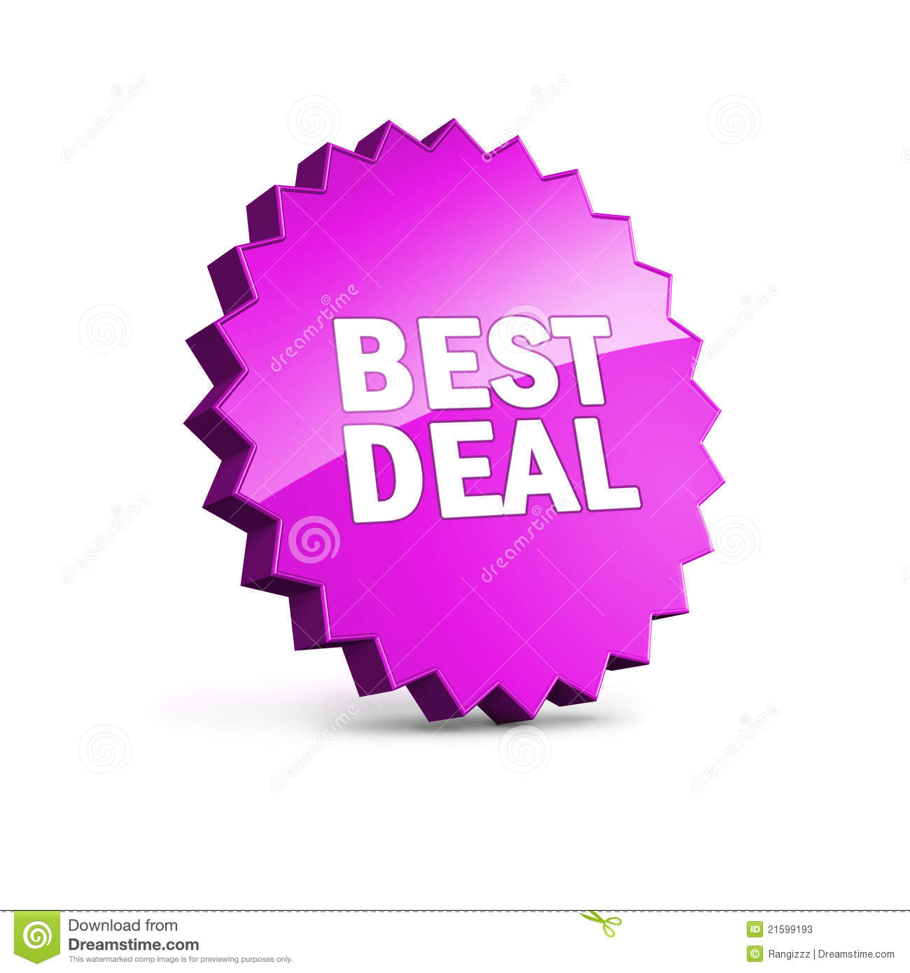 Best Deal Icon With Clipping Path