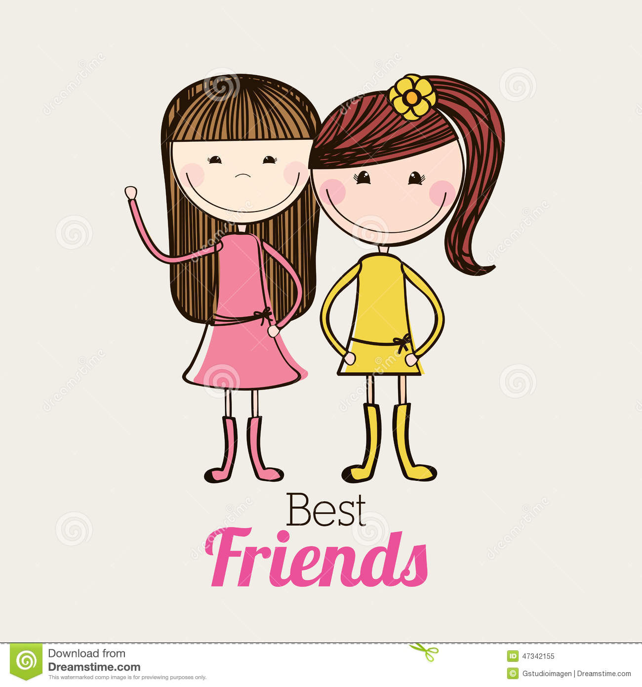 Wallpaper Of Cute Couple With Quotes Best Friends Design Stock Vector Image 47342155