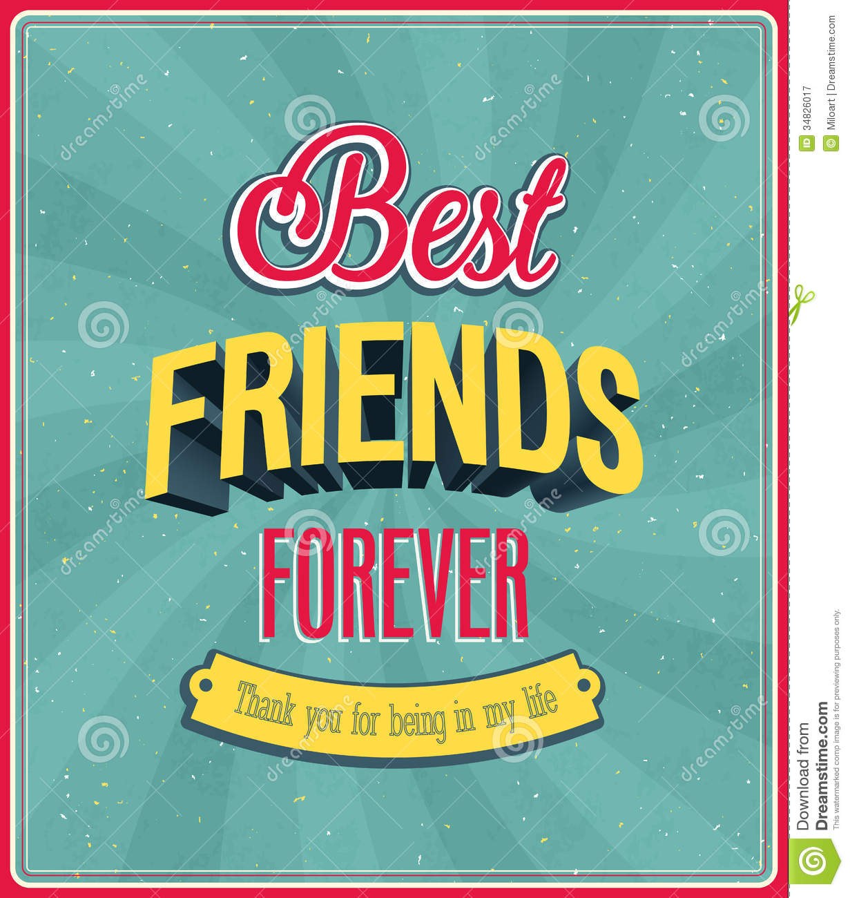 Cute Together Forever Wallpaper Best Friends Forever Typographic Design Stock Vector