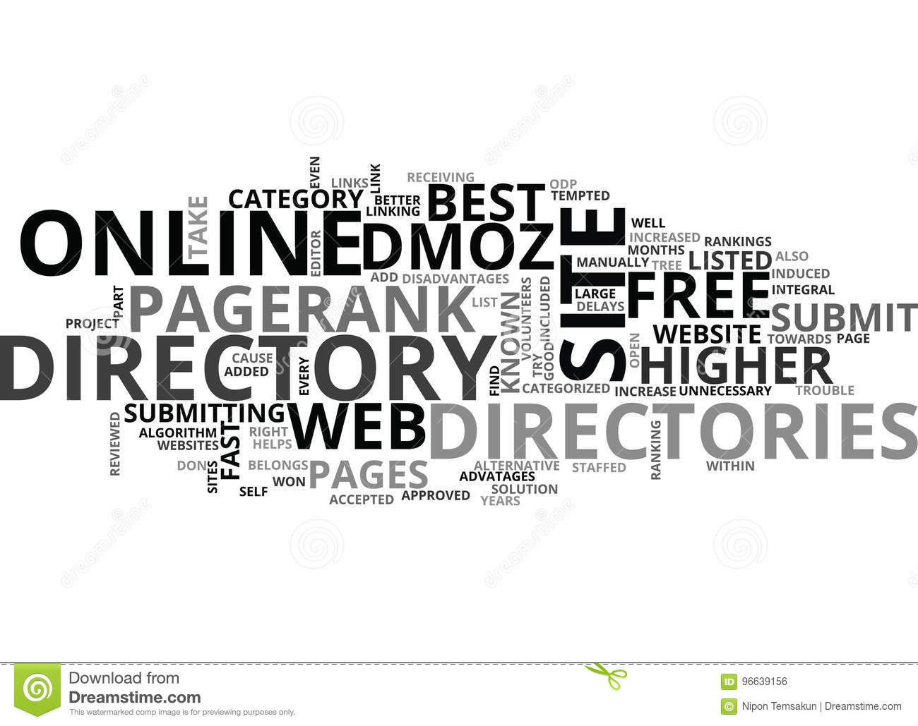 Calligraphy Photo Editor Online Best Online Directories Word Cloud Stock Illustration