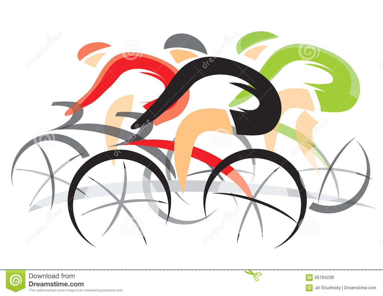 Racing Bicycle Clipart Bicycle Race Stock Vector Illustration Of Racing Green