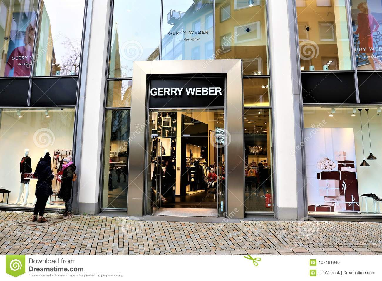 Bielefeld Shopping 01 06 2017 Bielefeld Germany An Concept Image Of A Gerry Weber