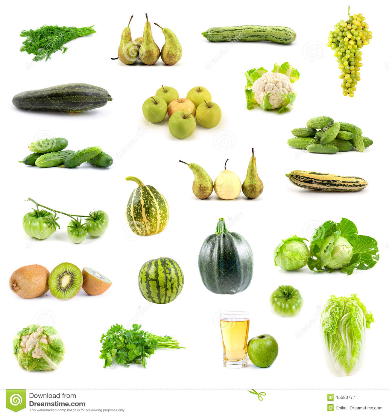 Broccoli Soorten Big Collection Of Green Vegetables And Fruits Stock Image