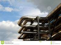 Big Steel Pipe In Oil Refinery Stock Images - Image: 25682574