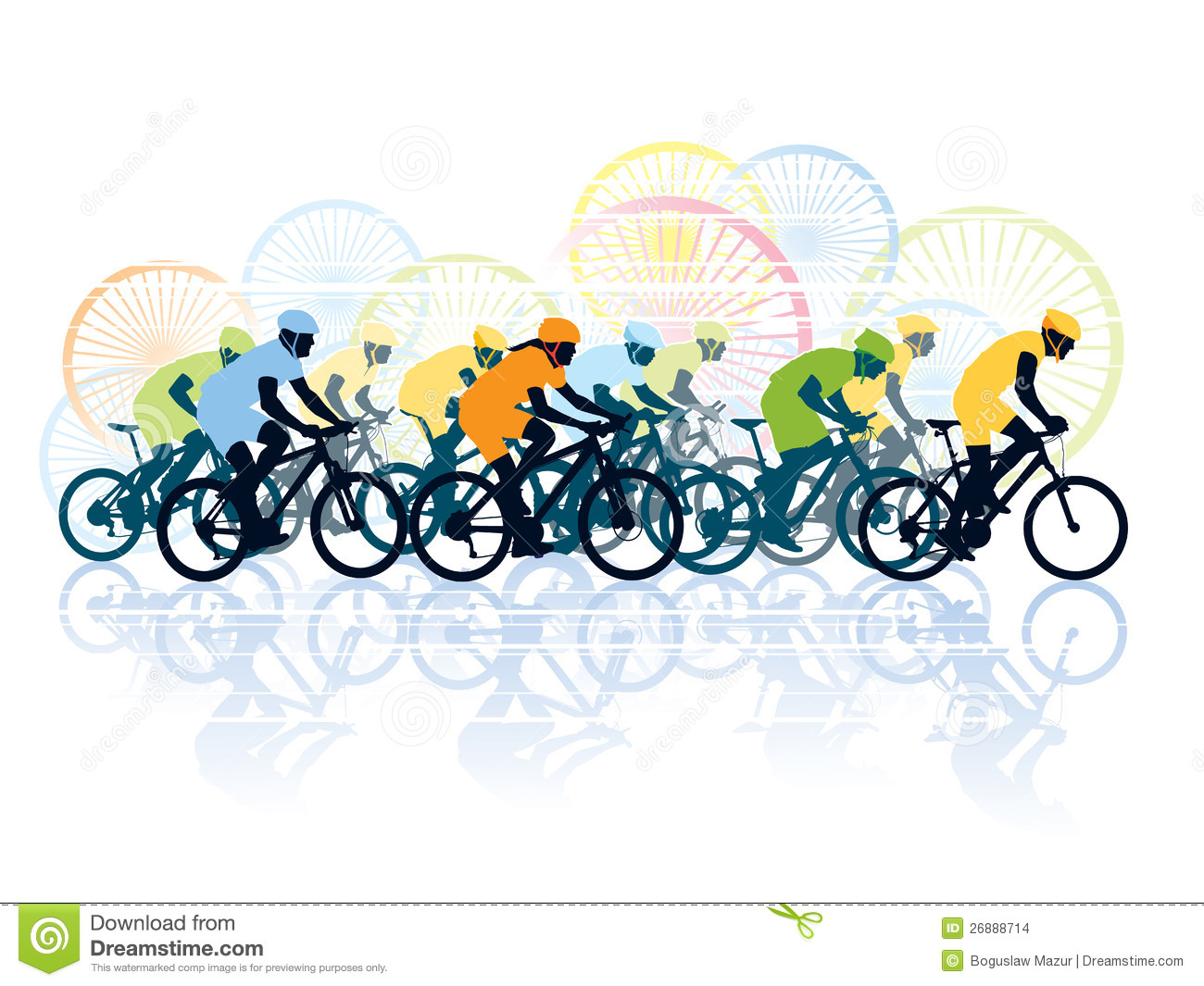 Racing Bicycle Clipart Bike Race Stock Vector Illustration Of Person