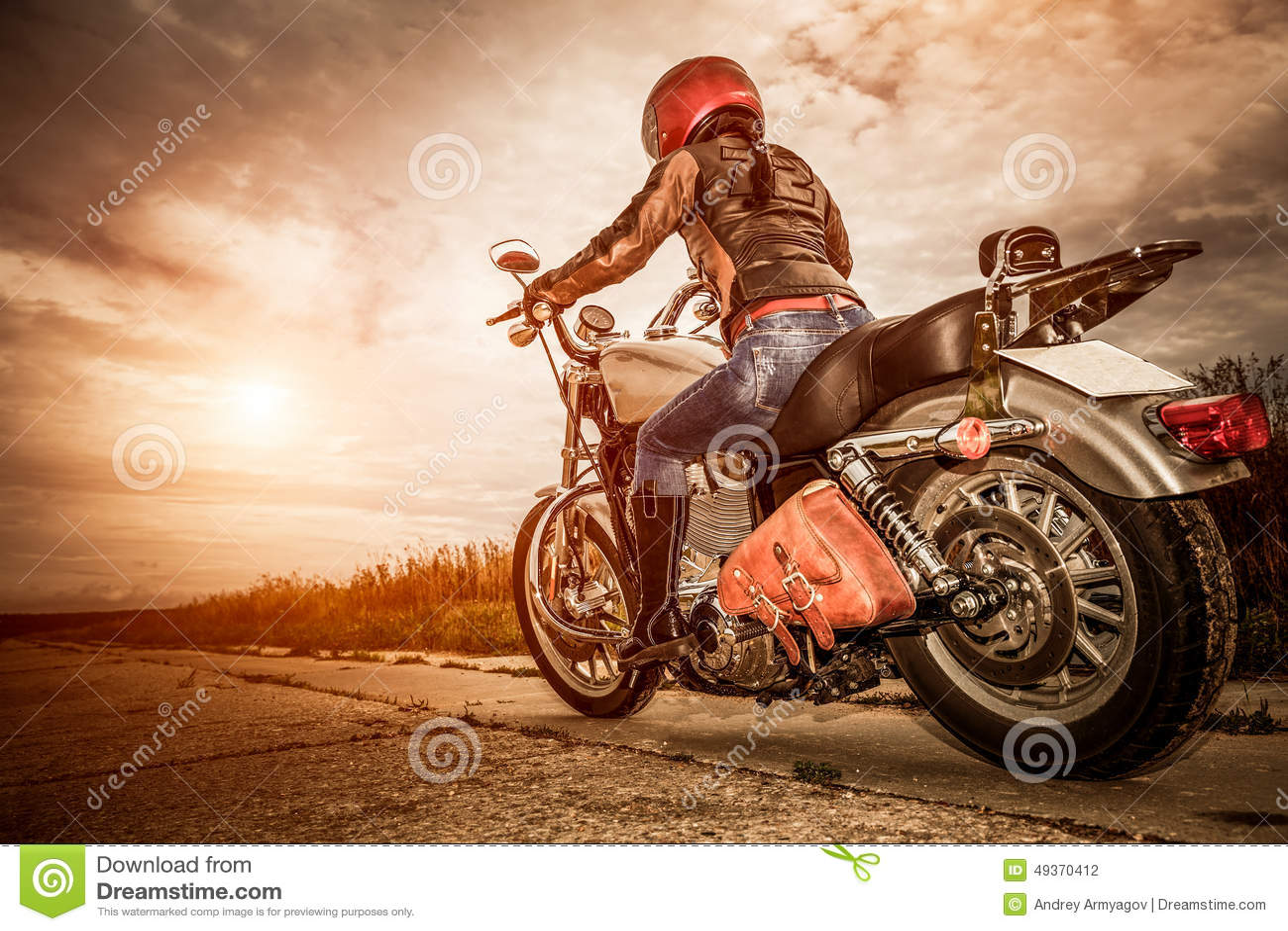 Power Pop Girl Wallpaper Biker Girl On A Motorcycle Stock Photo Image Of Freedom