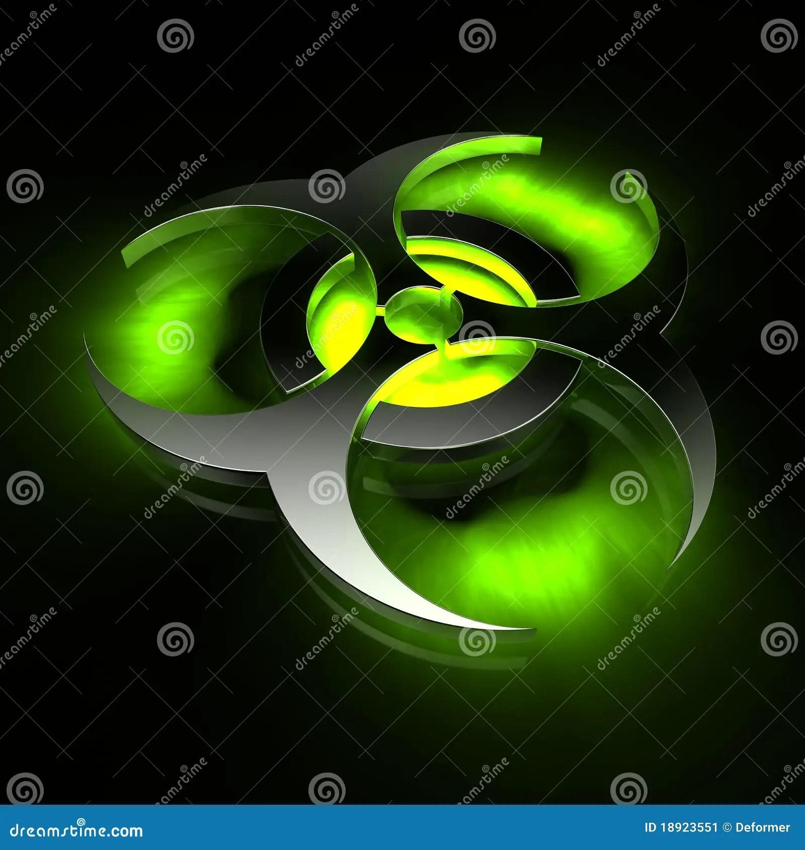 Danger 3d Wallpaper Biohazard Green Stock Illustration Image Of