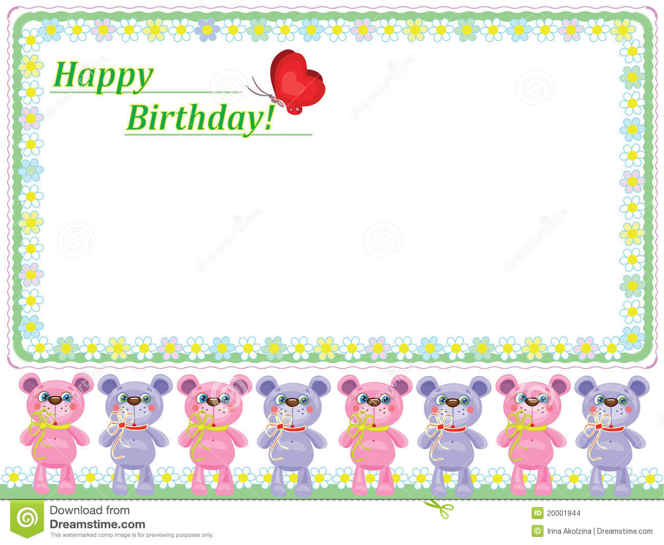 Small Cute Baby Wallpaper Download Birthday Background With Bears Stock Images Image 20001944