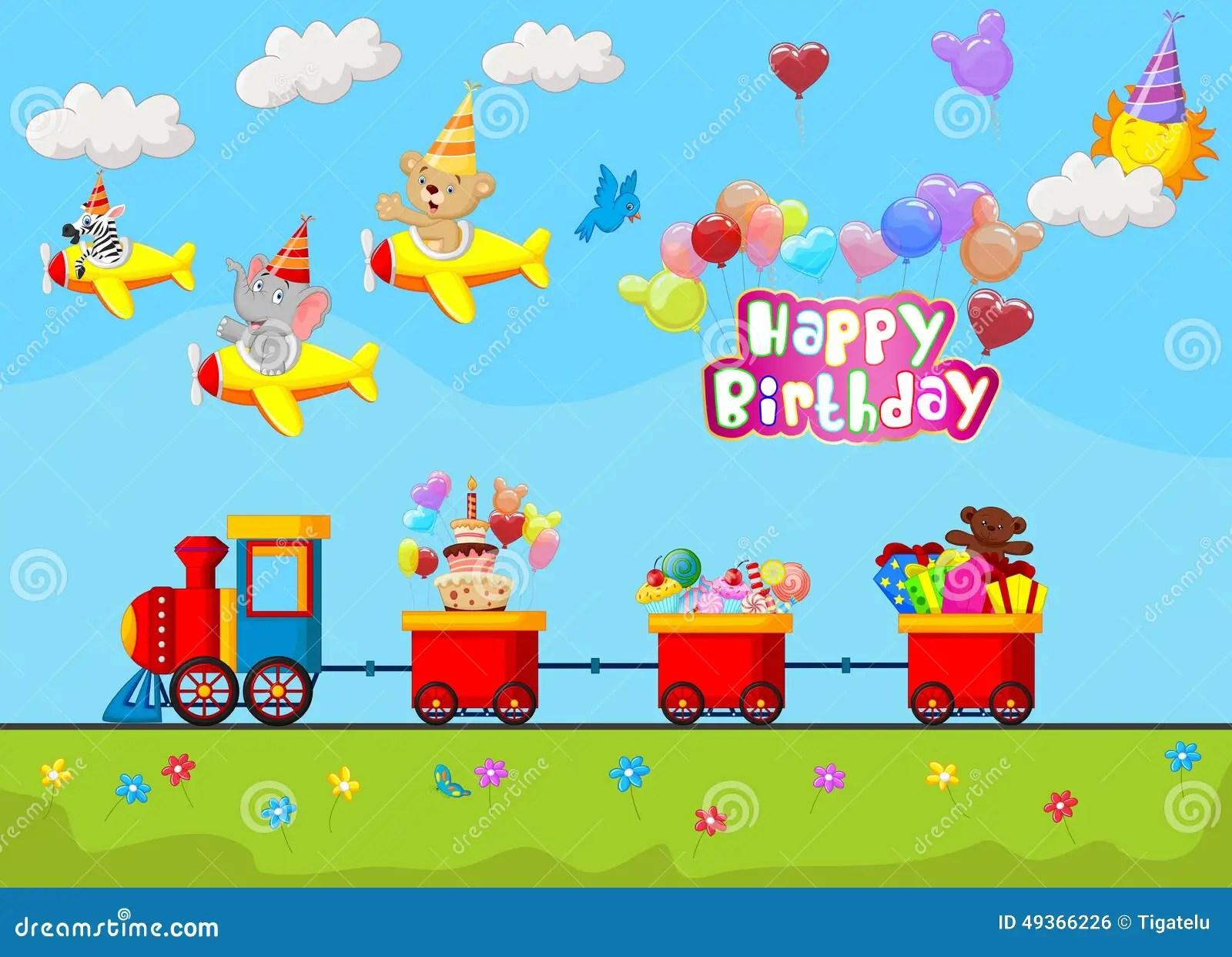 Colorful Animal Print Wallpaper Birthday Background Cartoon Stock Vector Image 49366226