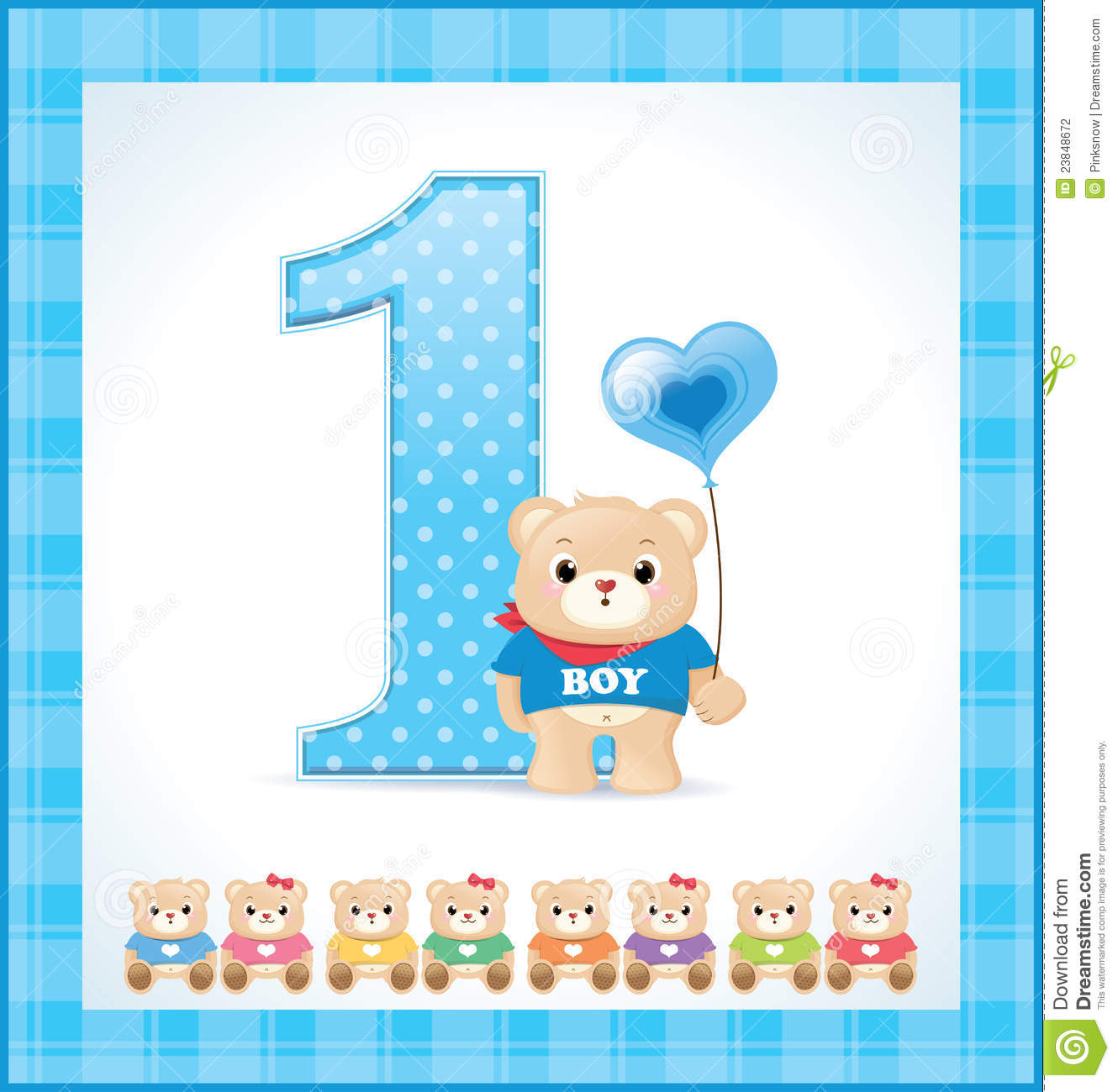 Feliz Cumple Mes Para Bebes Birthday Card For Baby Boy Stock Photography Image 23848672