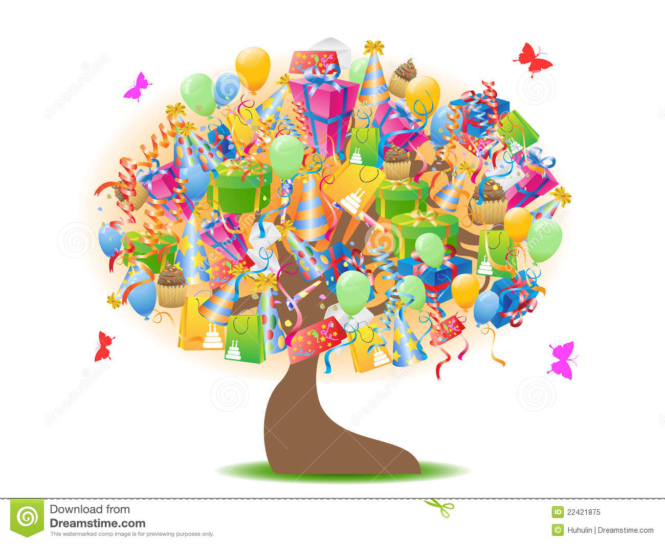 Carte Cadeau Wish Birthday Gifts Tree Royalty Free Stock Photo Image 22421875