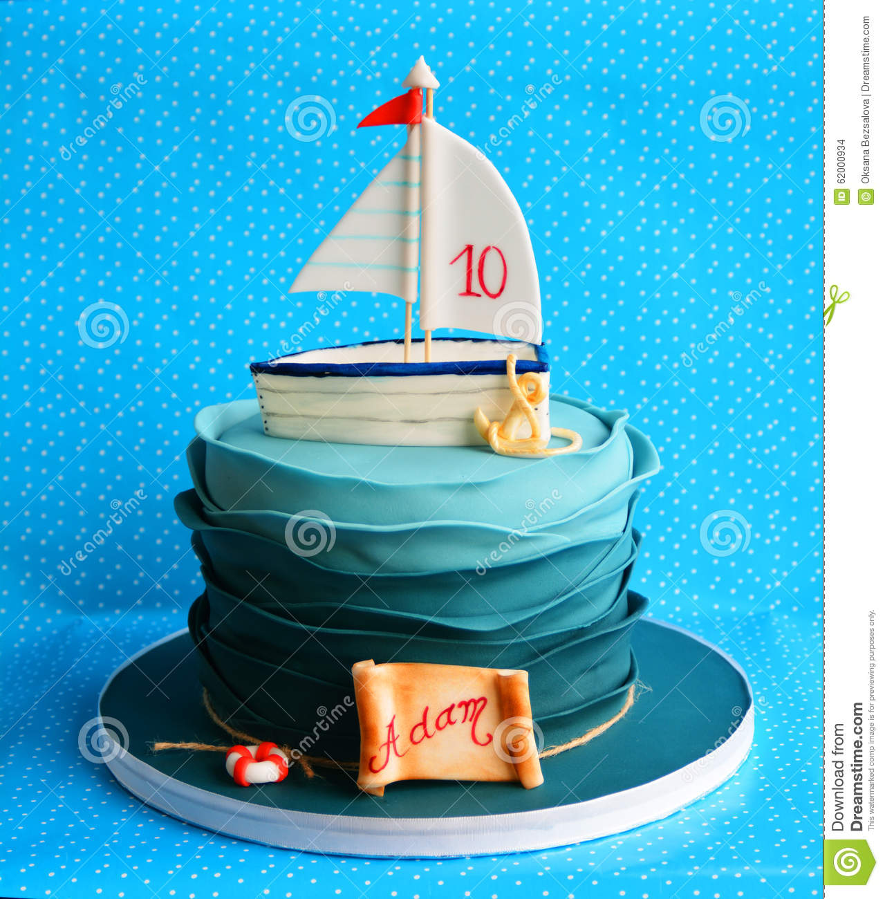 Cordage Marin Décoration Birthday Marine Cake For A Child Stock Photo Image Of