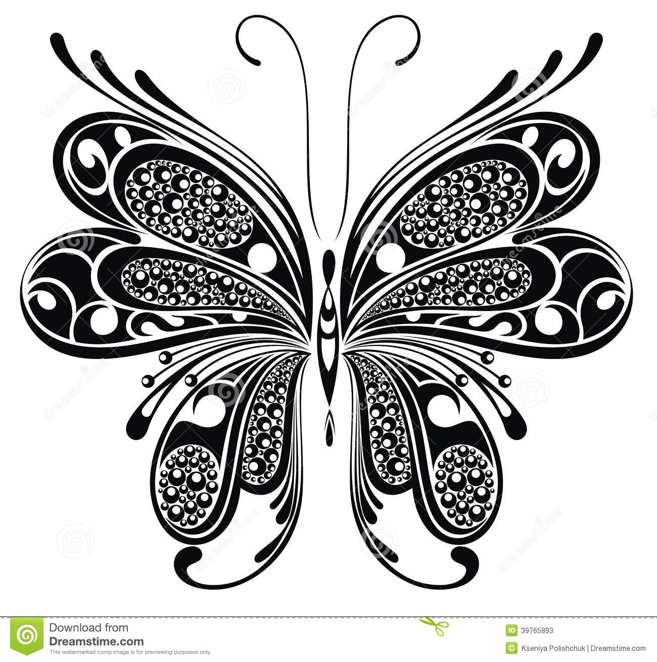 Cool T Shirt Schwarz S Black Butterfly. Tattoo Design Stock Vector - Image: 39765893
