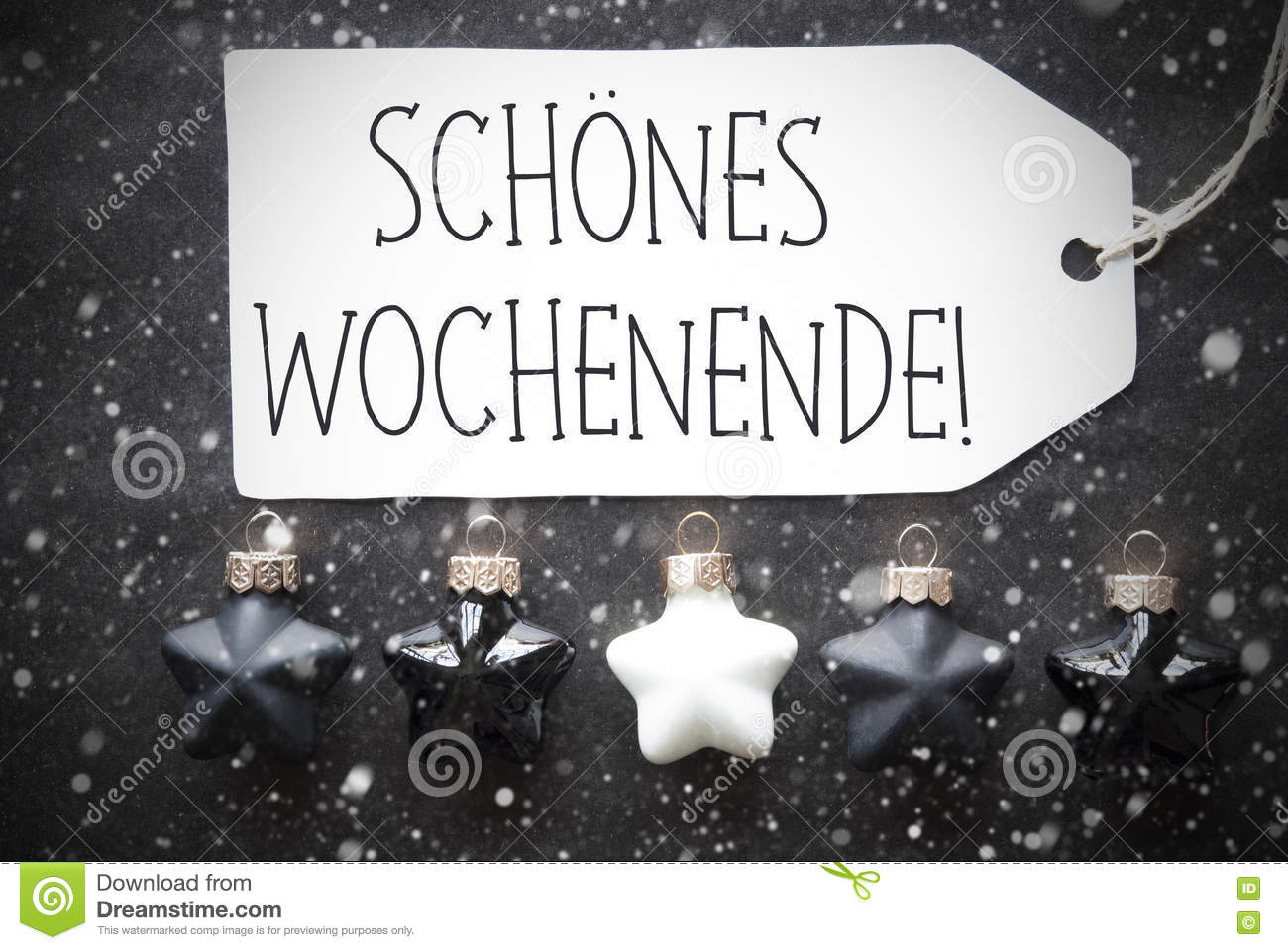 Black Friday Wochenende Black Christmas Balls Snowflakes Schoenes Wochenende Means Happy
