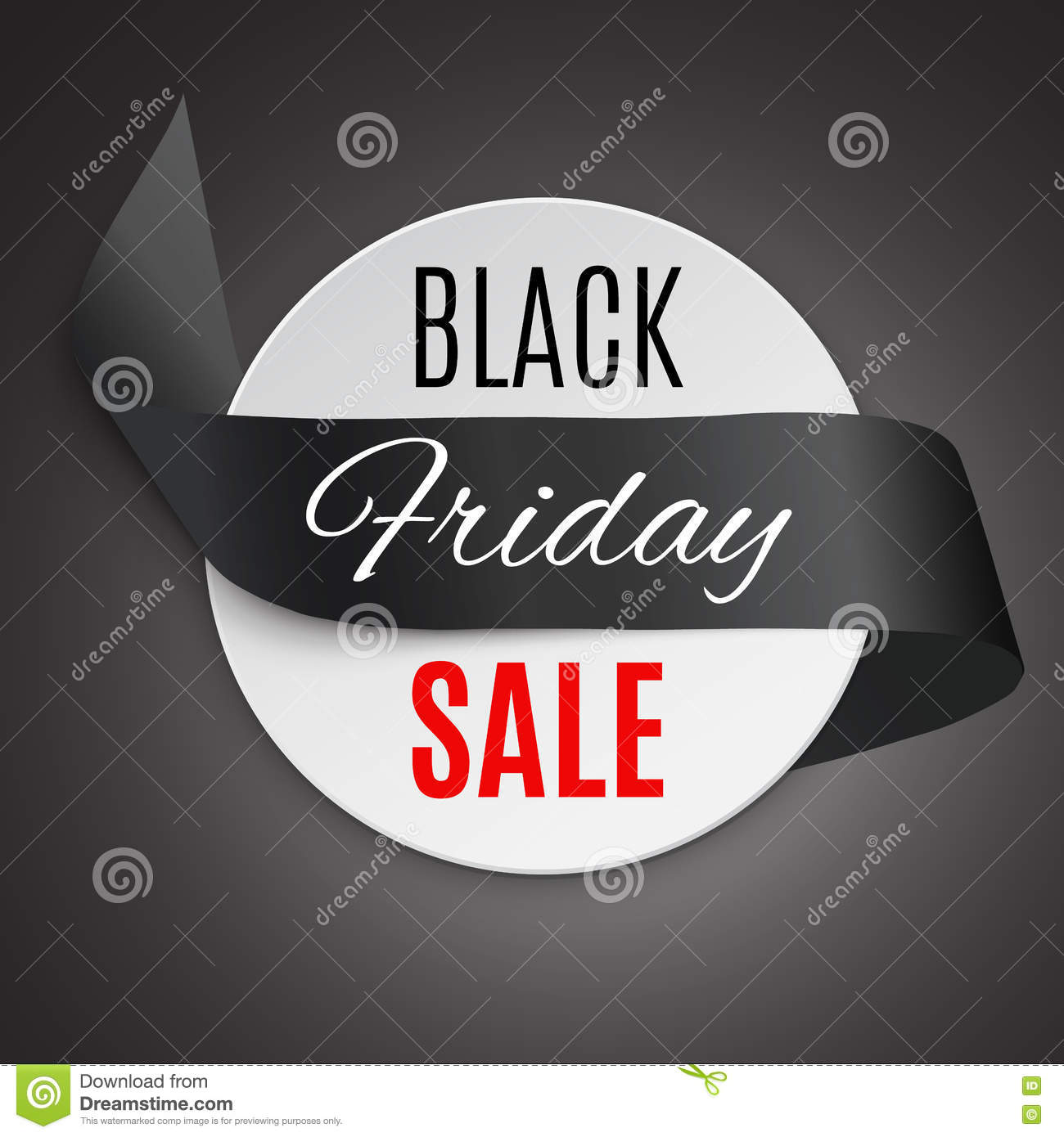 Black Sale Black Friday Ribbon Stock Photo Image 79262098
