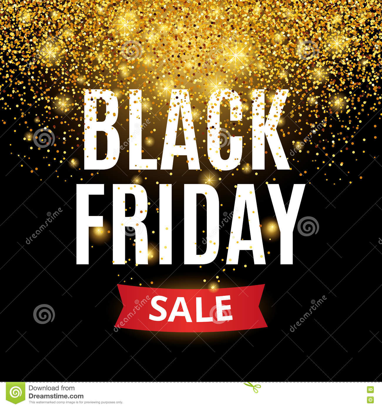 Friday Sale Black Friday Sale Stock Vector Image Of Glitter Holiday