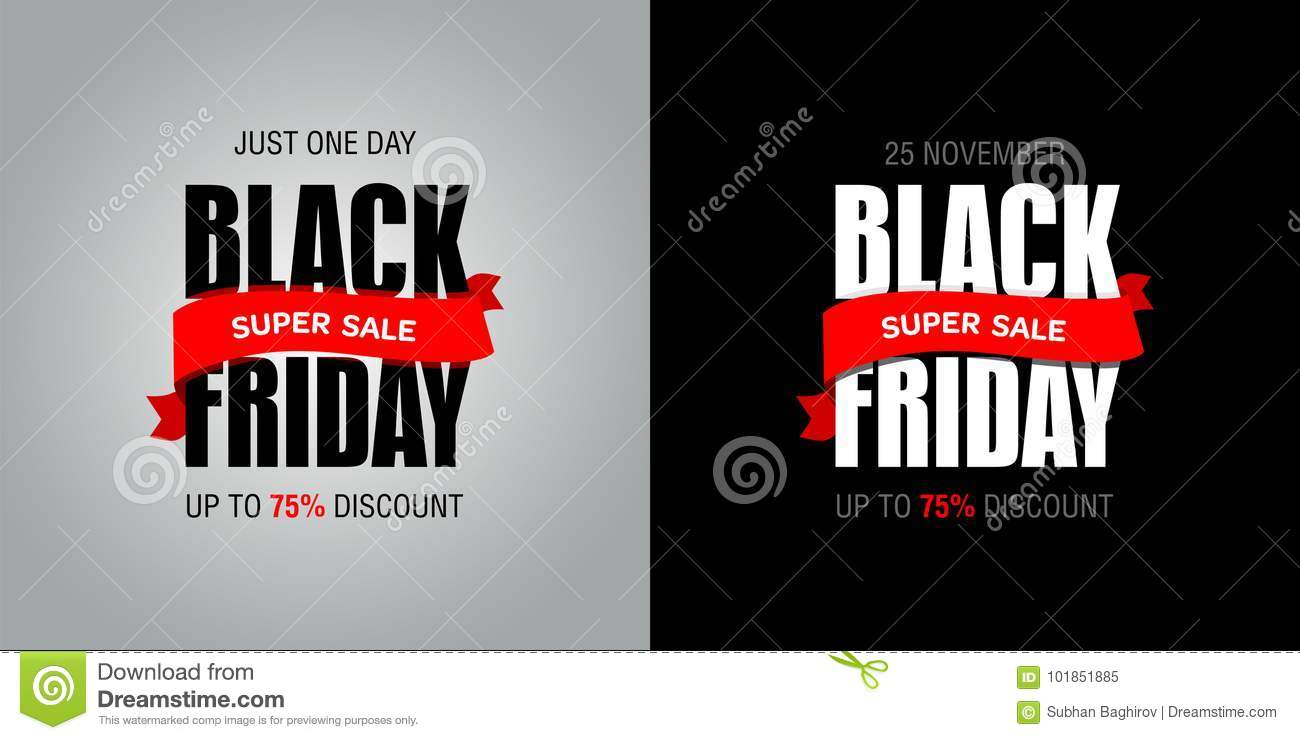 Black Sale Black Friday Sale Inscription Best Design Template Black Friday