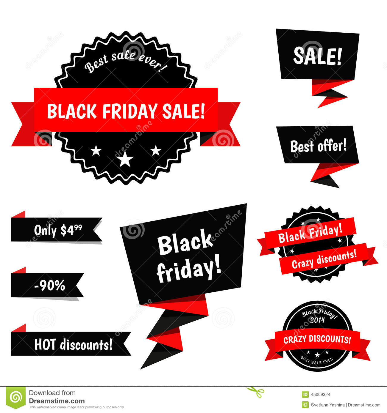 Friday Sale Black Friday Sale Vector Elements Stock Vector Image
