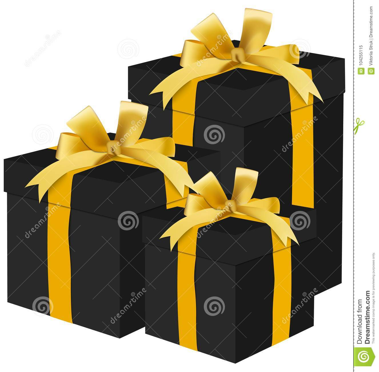 Black Gift Boxes Black Gift Boxes Stock Illustration Illustration Of Event 104255115