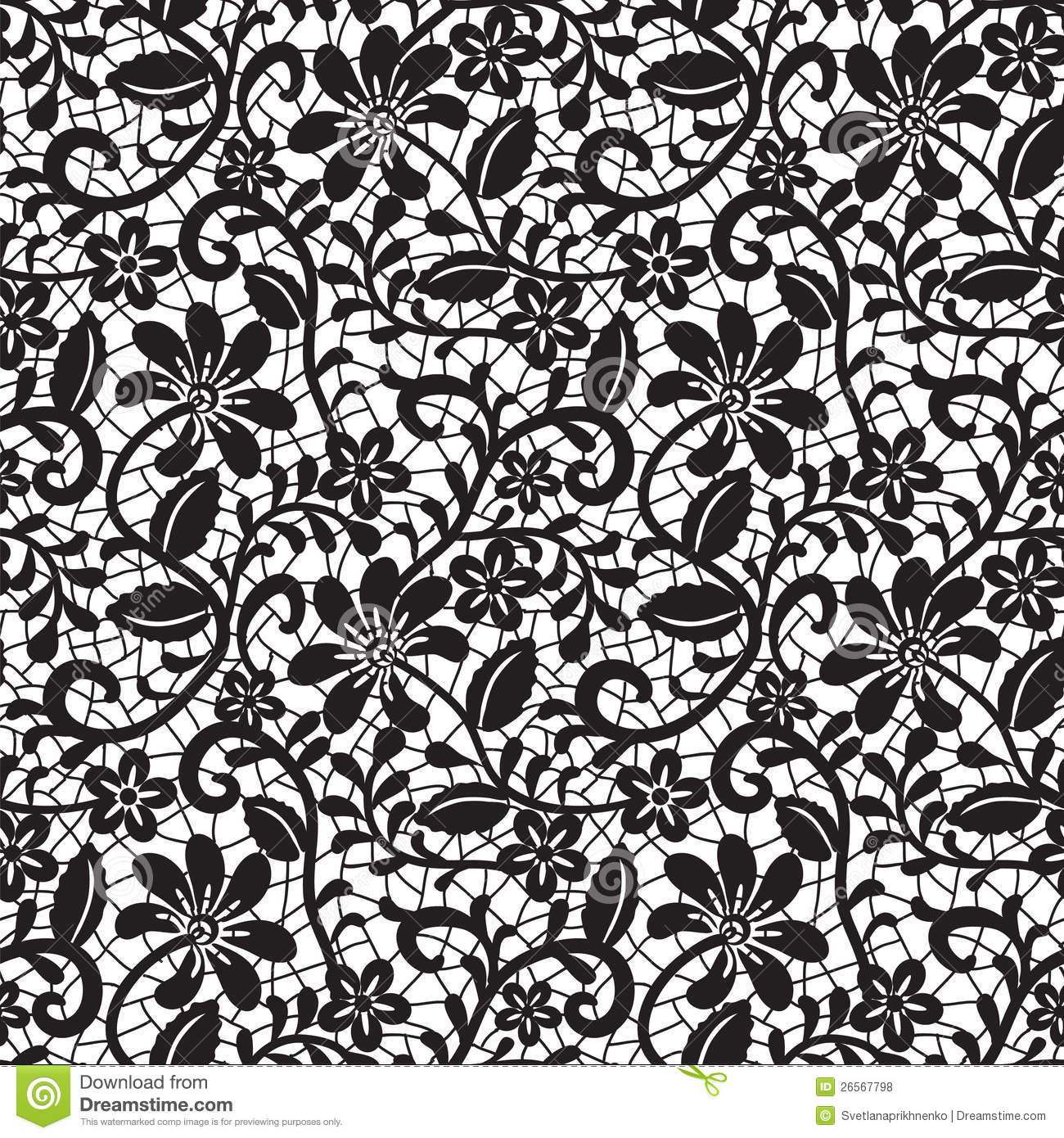 Iphone 7 Water Wallpaper Black Seamless Lace Pattern Royalty Free Stock Photos