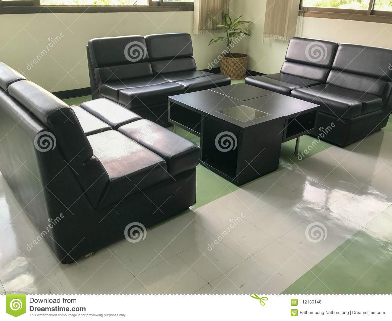 Dinner Sofa Black Sofa And Table Set Stock Photo Image Of Dinner 112130148