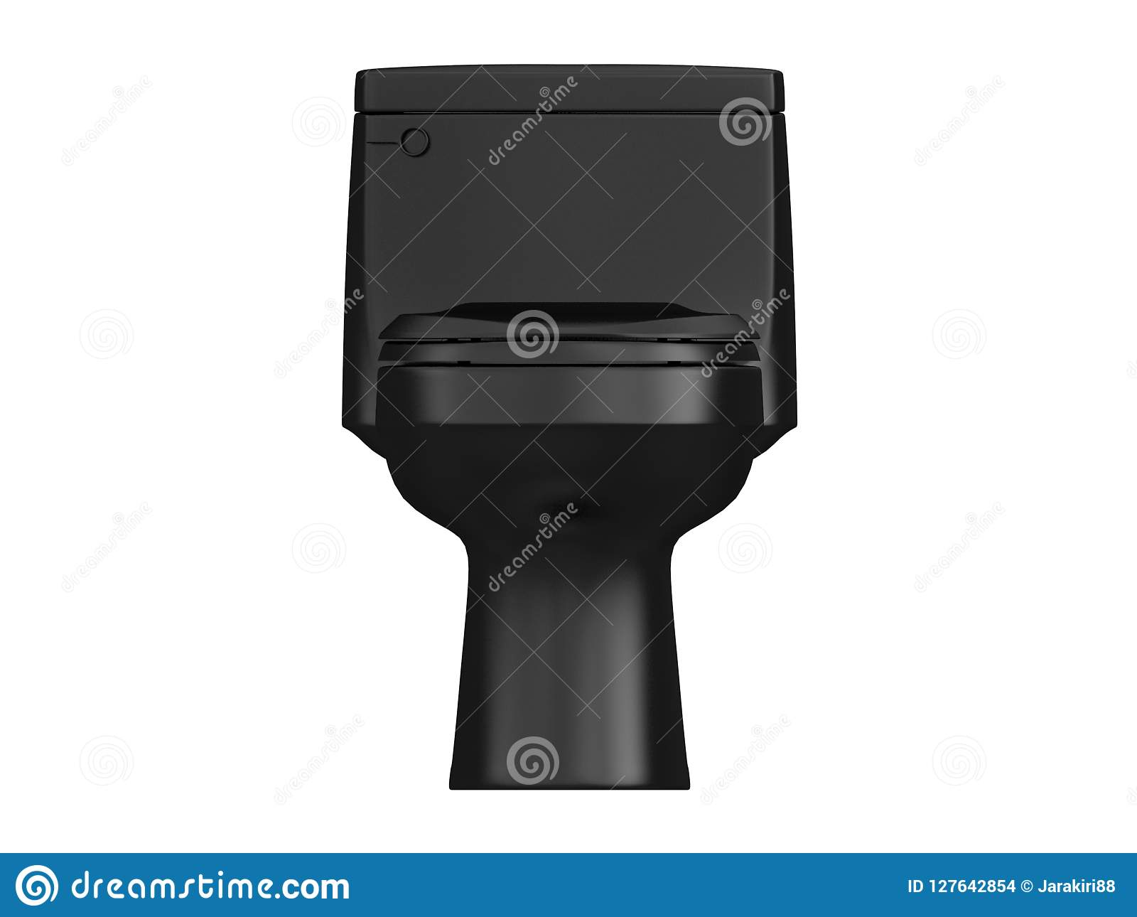 Black Ceramic Toilet Paper Holder Top View Of Toilet Paper On Holder Isolated On White