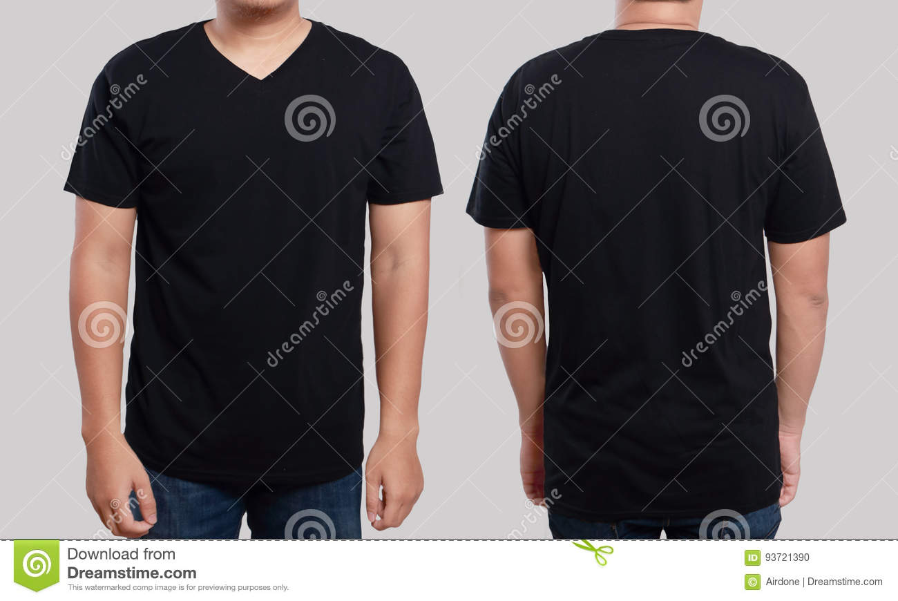 Black t shirt vector template - Download