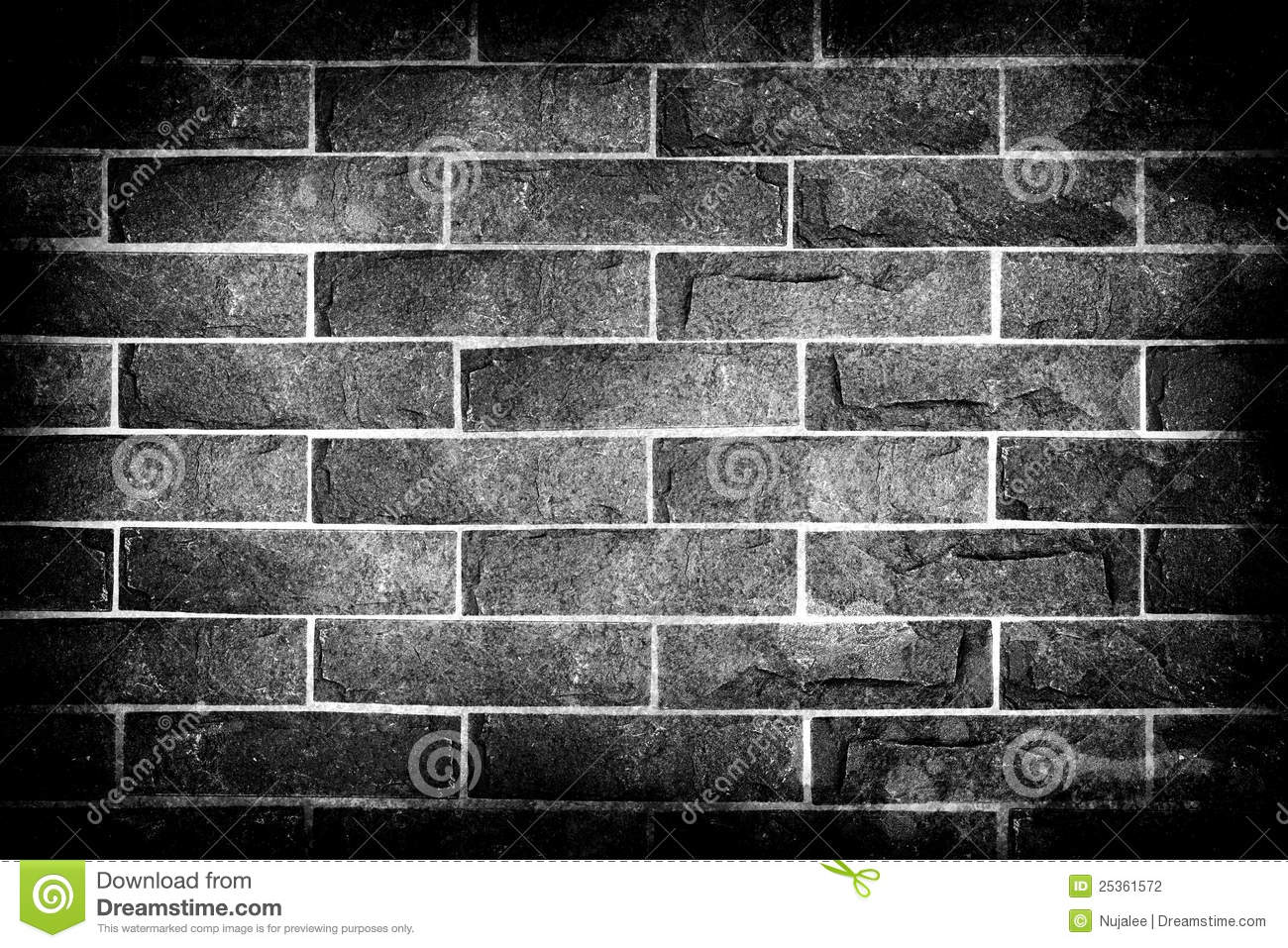 Black And White Bricks Black And White Brick Wall Stock Photography Image 25361572
