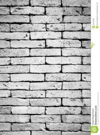 Black And White Brick Wall Background Stock Photo