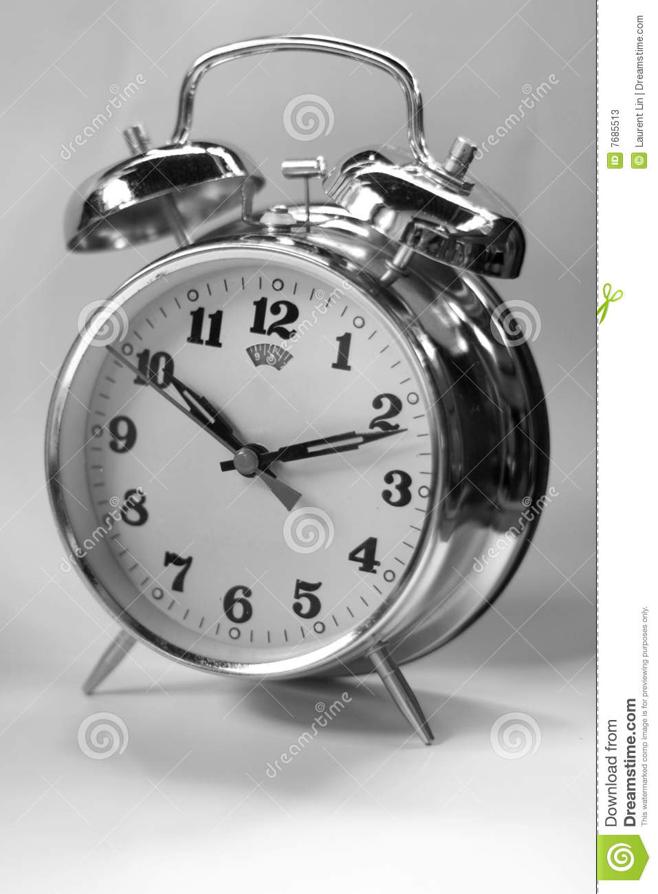 Retro Wall Clock Black And White Clock Watch Stock Photos - Image: 7685513