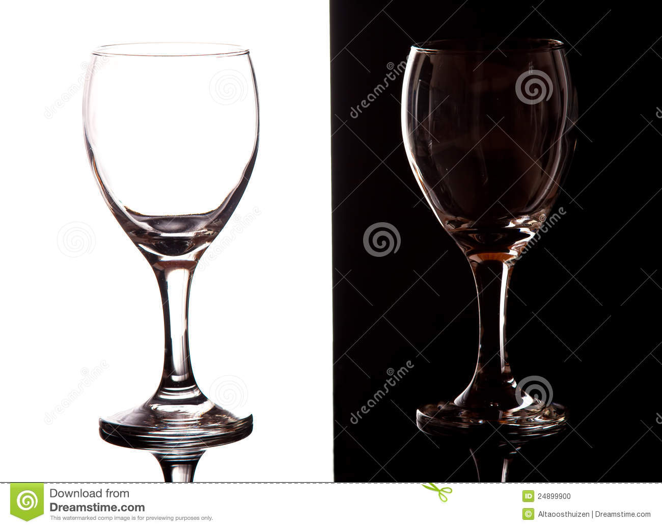 Black Wine Goblets Black And White Contrast Wine Glasses Stock Photo Image